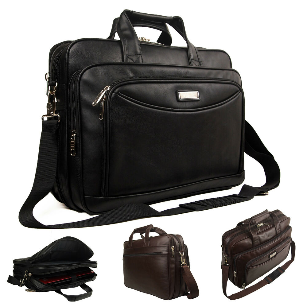 High Quality Mens Womens Faux Leather Ocello Laptop Business Bag Work Briefcase | EBay