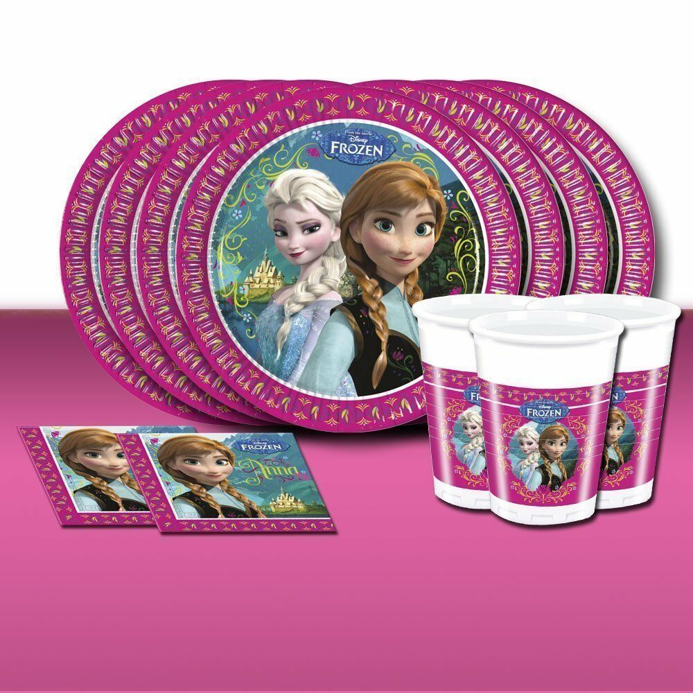 Disney FROZEN Girls Birthday Party Supplies Tableware And