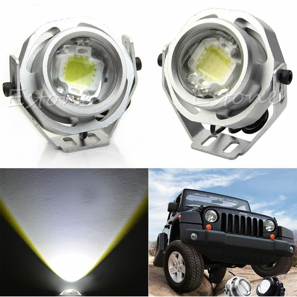 2pcs 10w 12v led work light spot road motor car tractor boat fog spotlight ebay. Black Bedroom Furniture Sets. Home Design Ideas