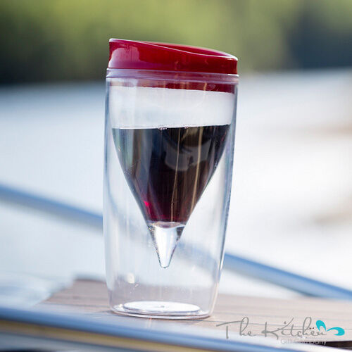 double walled wine glass get your vino 2 go acrylic picnic camping glasses ebay. Black Bedroom Furniture Sets. Home Design Ideas