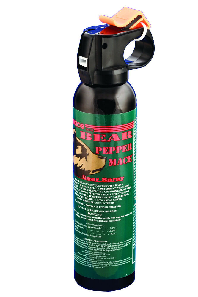 Bear Protection With Frontiersman Bear Spray: Mace Bear Pepper Animal Defense Spray 260g NEW-M80346