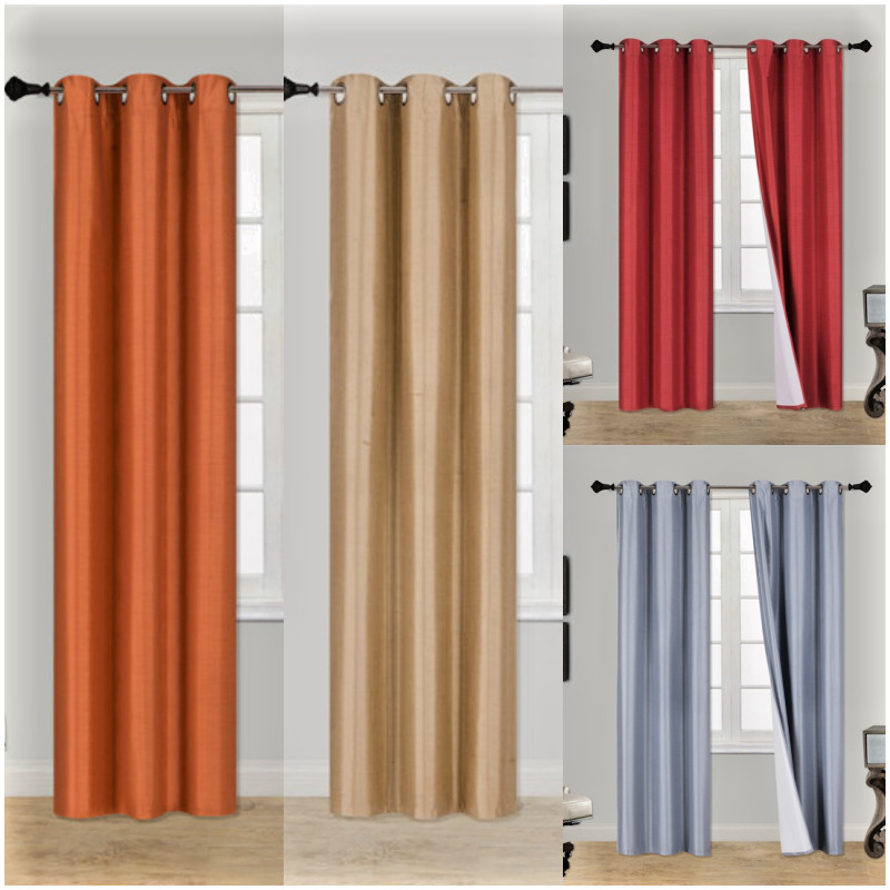 ... Thermal Blackout Drape Silver Grommets Window Curtain Drapes | eBay