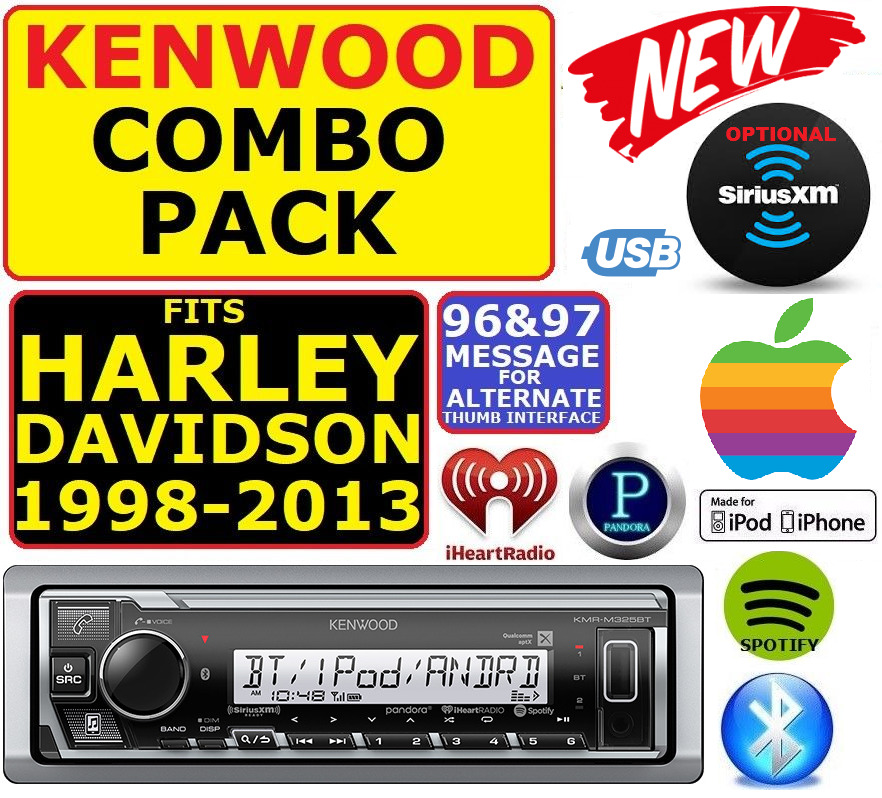 s l1000 harley touring marine kenwood kmr m318bt bluetooth radio stereo kenwood kmr m315bt wiring diagrams at crackthecode.co