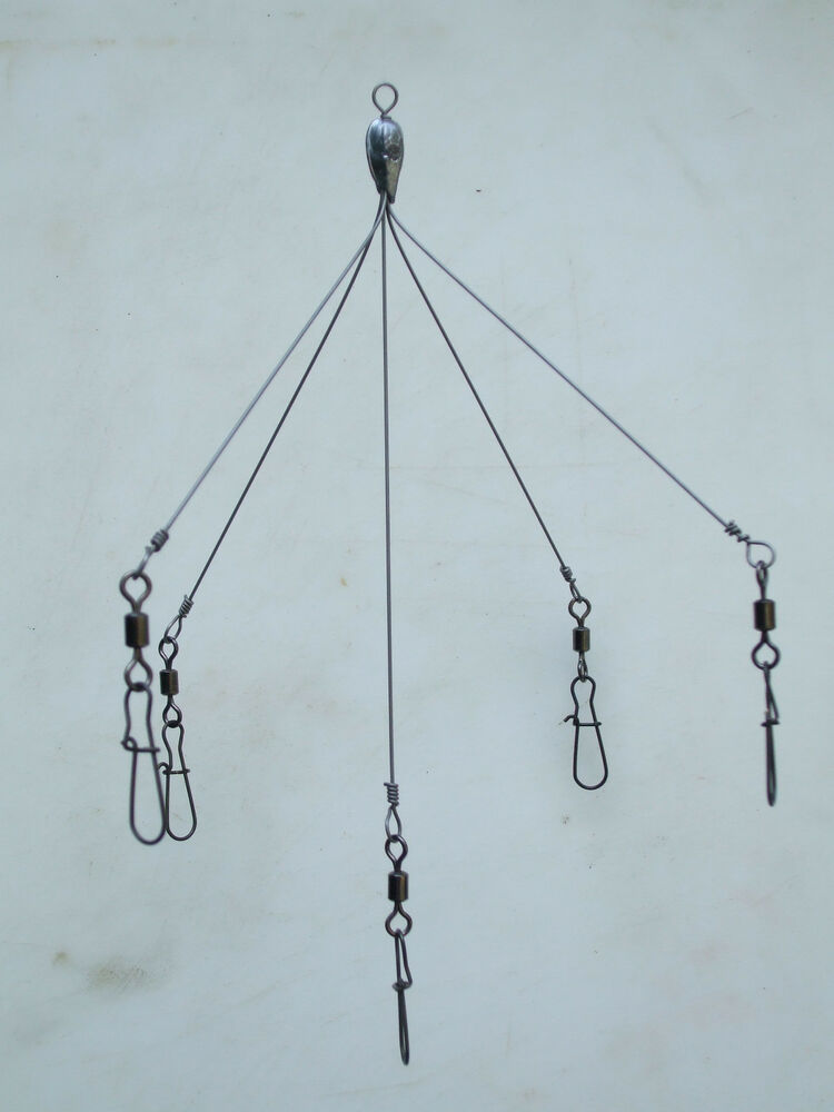 Saltwater castable alabama style umbrella rig for blues for Umbrella rig fishing