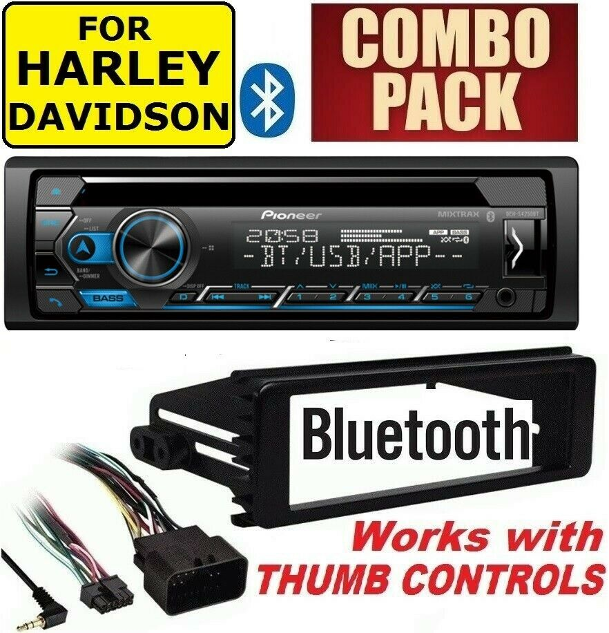 For Harley Touring Pioneer Deh S4000bt Bluetooth Cd Usb Radio Stereo Install Dash Kit Ford Taurus 00 01 02 03 04 Car Wiring Adapter Ebay