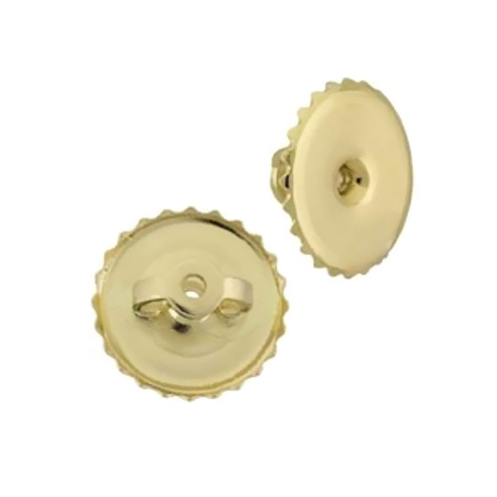9mm solid 14k yellow gold flat replacement on