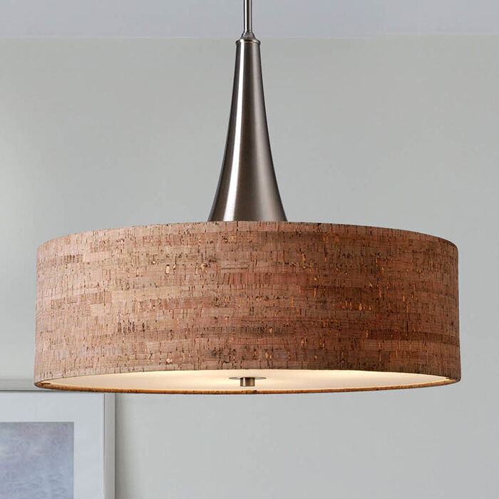 Modern 3 light chandelier drum shade pendant lamp ceiling for Ceiling lamp wood