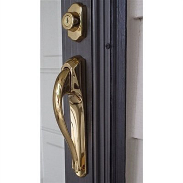 Storm Door Pull Handle Amp Lock Set In Bright Brass 3 4 Inch