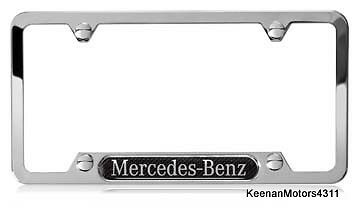 Genuine mercedes benz stainless steel with carbon fiber for Mercedes benz amg carbon fiber license plate frame