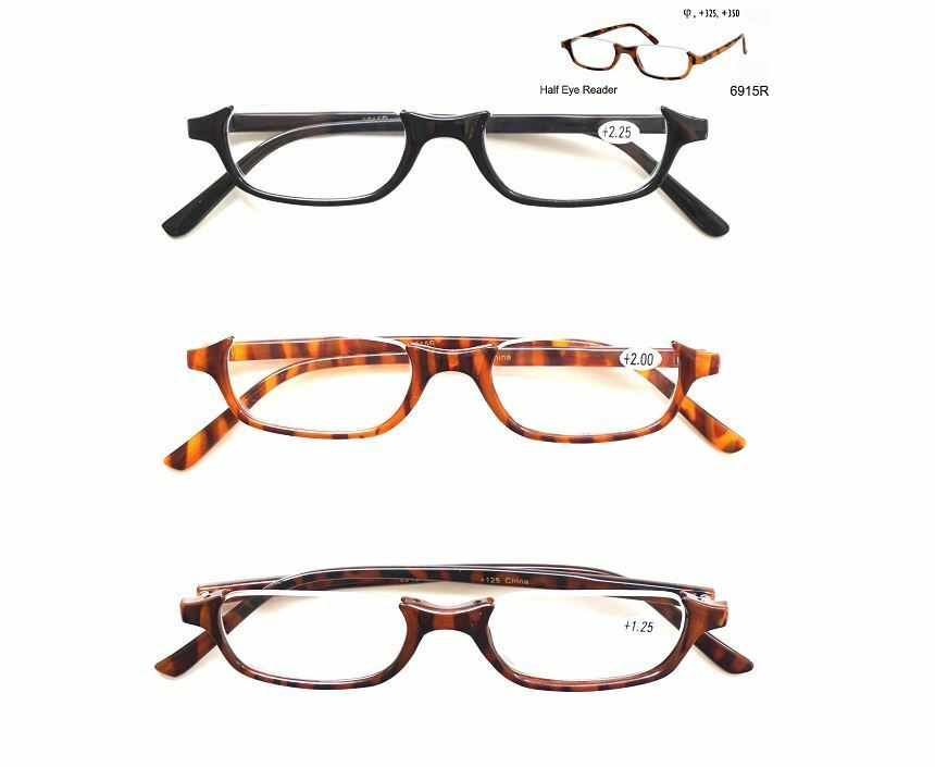Half Frame Reading Glasses : Fashion Half Frame Reader Half Eye Reading Glasses ...