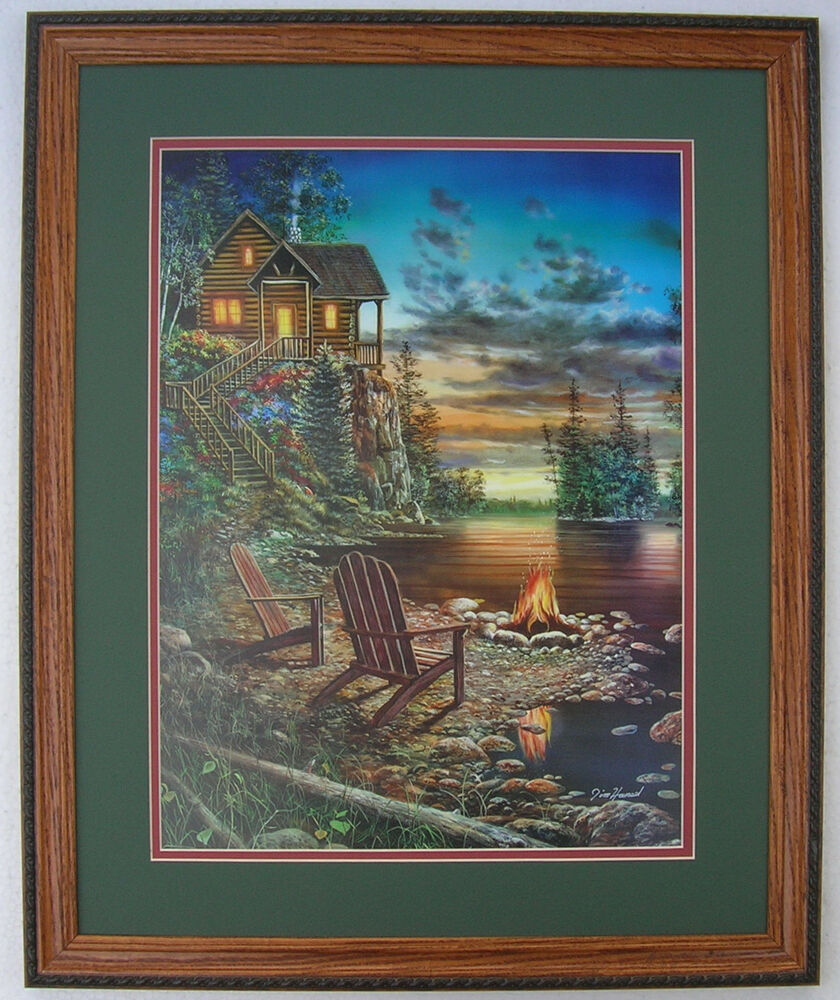 Jim Hansel Hunting Lodge Prints Framed Country Pictures Interior Home Decor Art Ebay