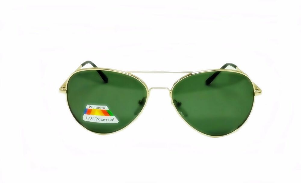 Police Gold Frame Sunglasses : POLARIZED AVIATOR SUNGLASSES GREEN LENS GOLD METAL FRAME ...