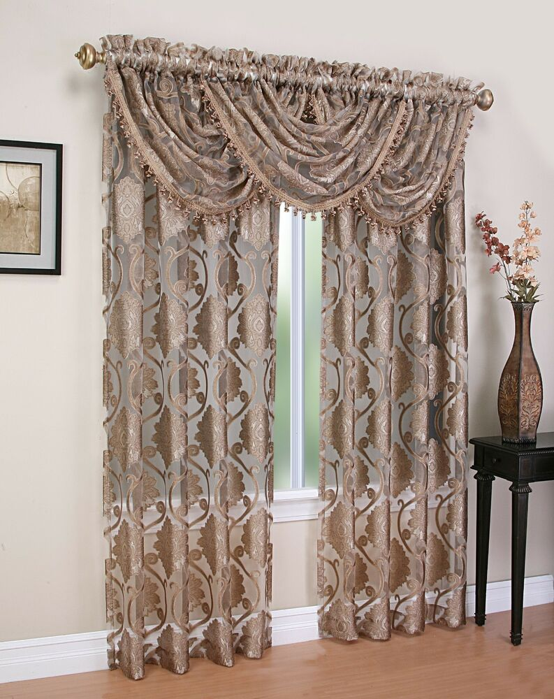 Curtains And Window Treatments : Luxurious milawi window treatment curtain organza
