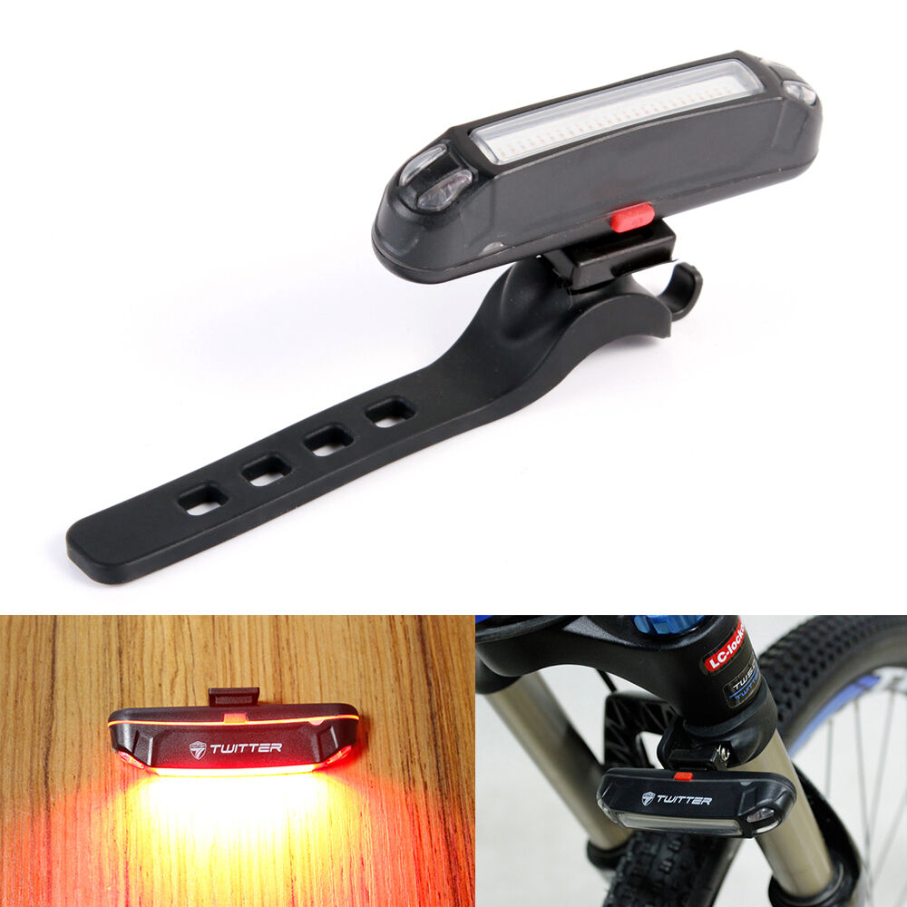 Red LED USB Rechargeable Head light Flash Bicycle BMC Bike ...