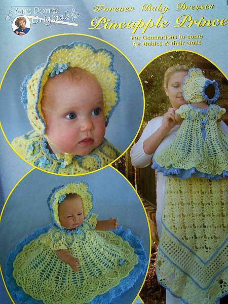Crochet Pineapple Princess Baby Dress Pattern Annie Potter ...