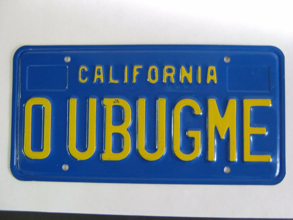 Ca Dmv Personalized license Plate lookup Vin