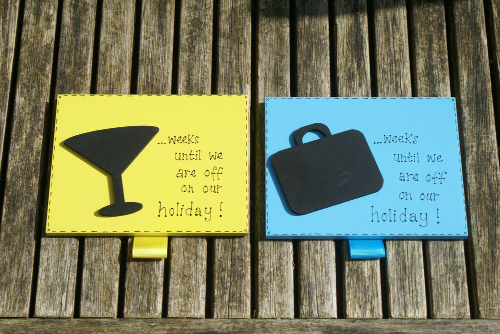 Holiday Countdown Chalkboard Plaque can be personalised | eBay