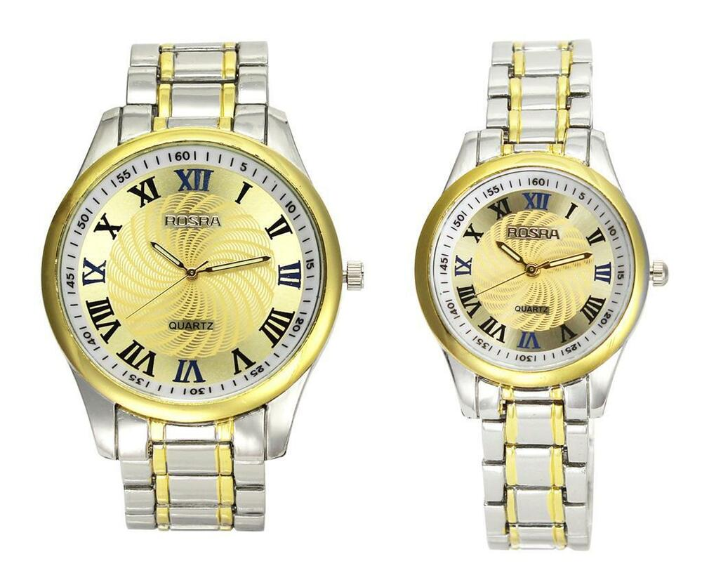 luxury stainless steel gold color watches