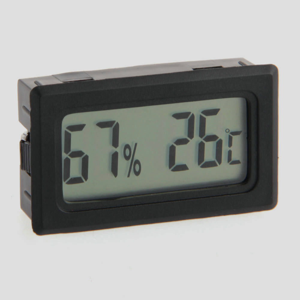 Mini thermometer hygrometer temperature humidity meter digital lcd display - Thermometre interieur maison ...