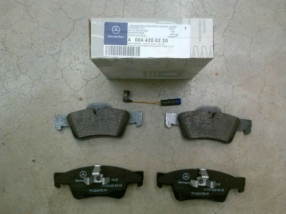 Genuine oem mercedes benz gl class x164 rear brake pad set for Mercedes benz gl450 brake pads