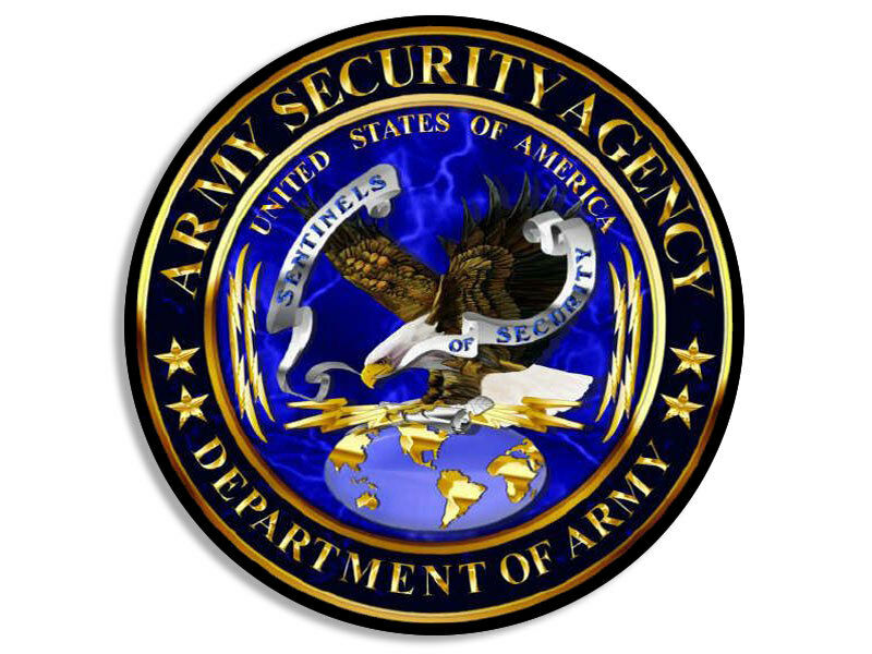 4x4 inch Round ASA Army Security Agency Seal Sticker - us ...