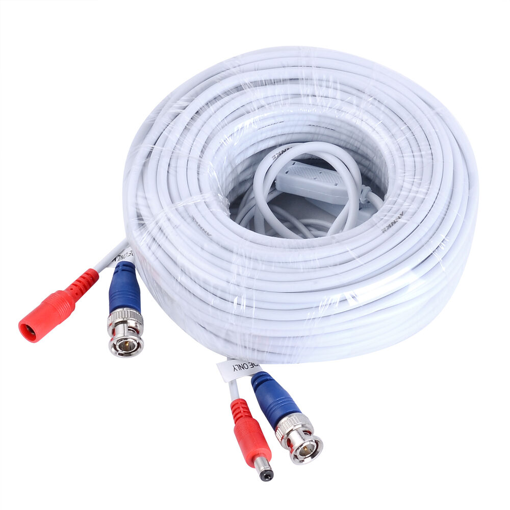 New 100ft 30m Bnc Cctv Video Power Cable Ccd Security