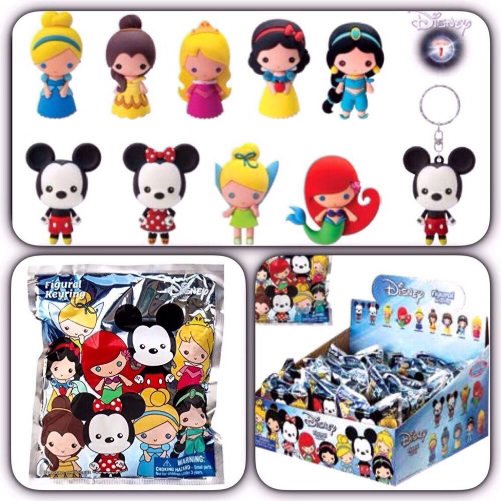 Disney Collectible Figural Key Chain Key Ring One Blind