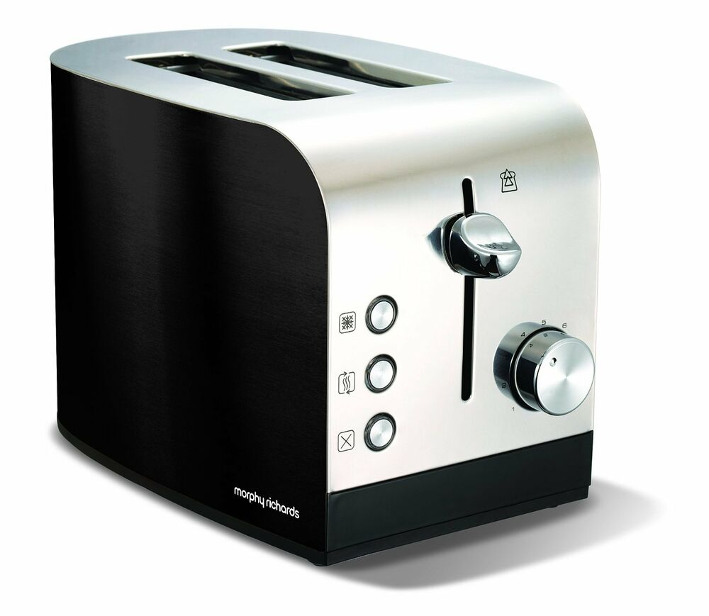 Morphy Richards Black 2 Slice Stainless Steel Toaster With