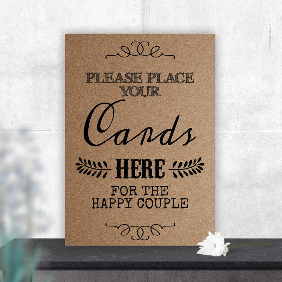 A4 Wedding Gift Box : A4 Cards Sign for Wedding Gift Table Letter Box Sack Classic BUY 2 GET ...