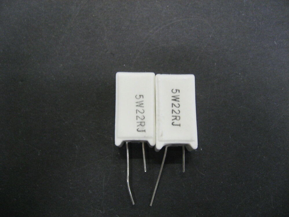 2pcs 22 Ohm 5 Watt Radial Ceramic Cement Power Resistor 5