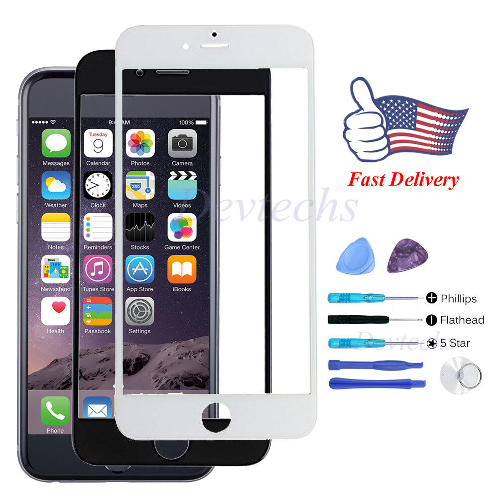 Front glass lens screen replacement repair kit for apple iphone 6 plus 5 5 39 39 ebay - Kit reparation iphone 6 ...