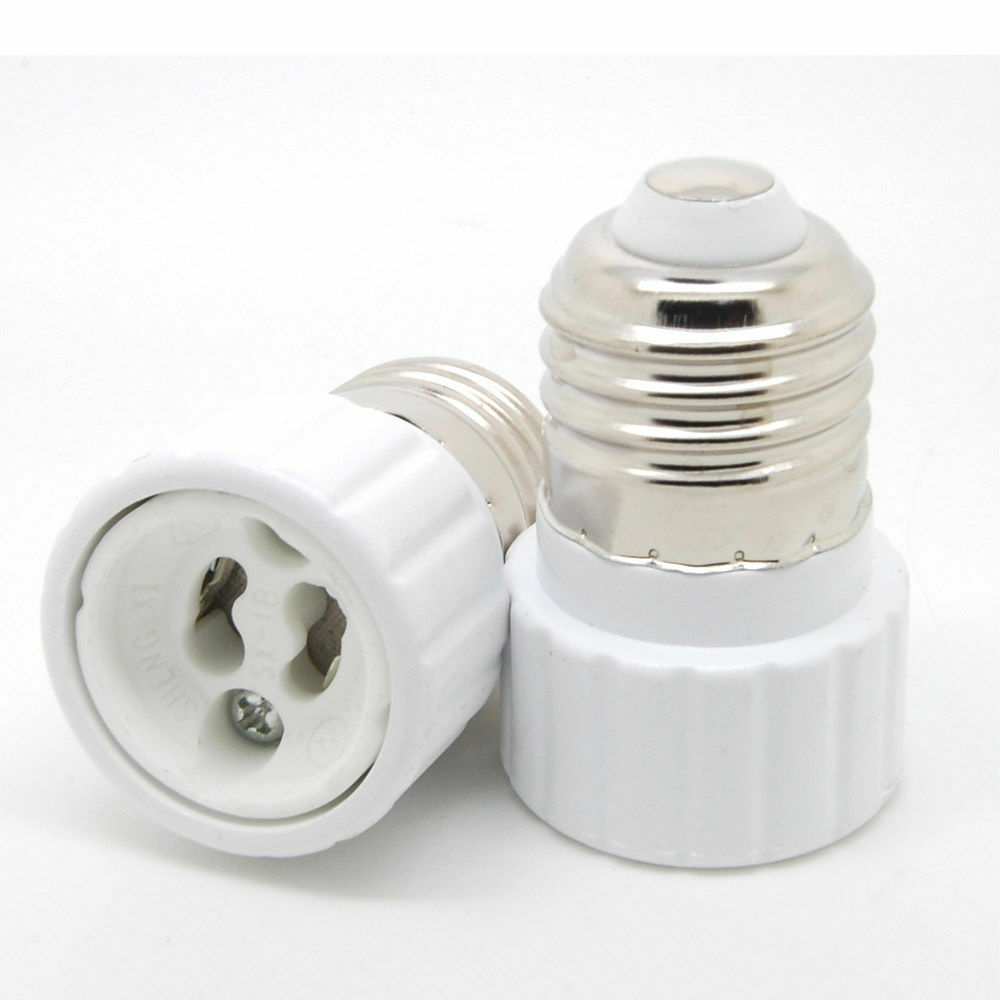 10pcs E27 E26 To Gu10 Socket Screw Base Led Bulb Light Lamp Adapter Converter Ebay