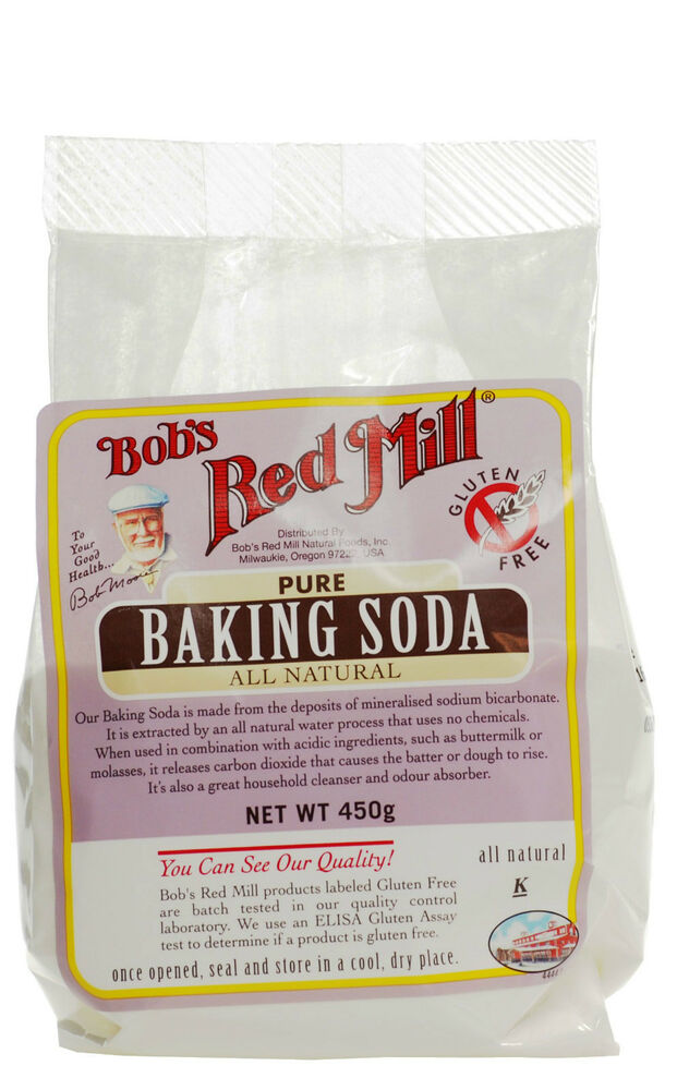 Bob 39 s red mill pure baking soda 450g gluten free all for Atkins cuisine all purpose baking mix where to buy
