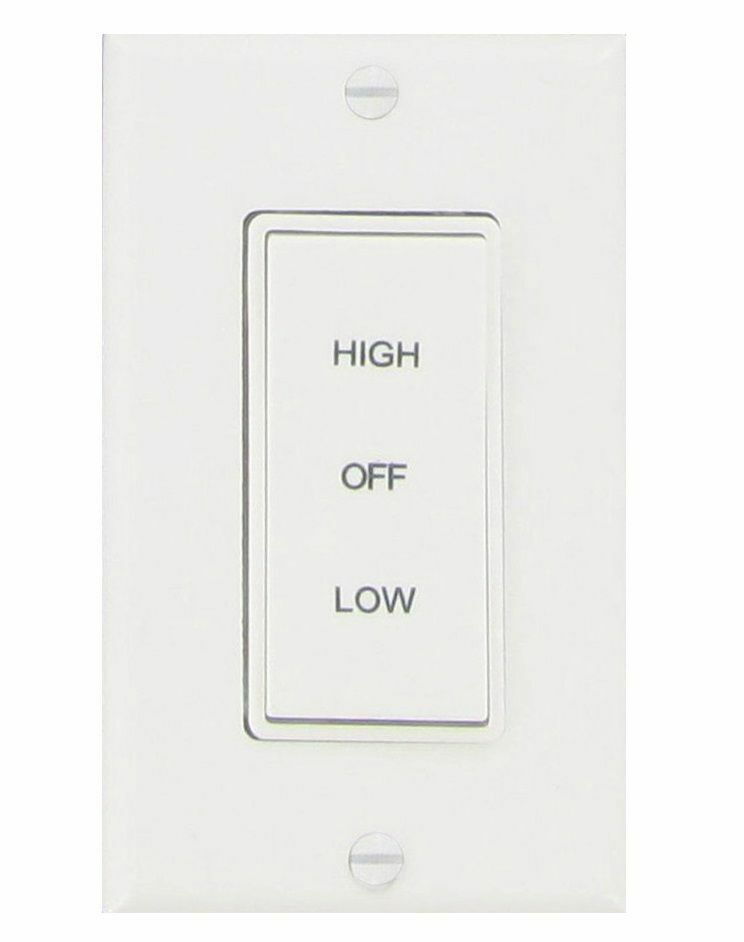 Air Ventilator Switch : Air vent speed rocker whole house fan switch white