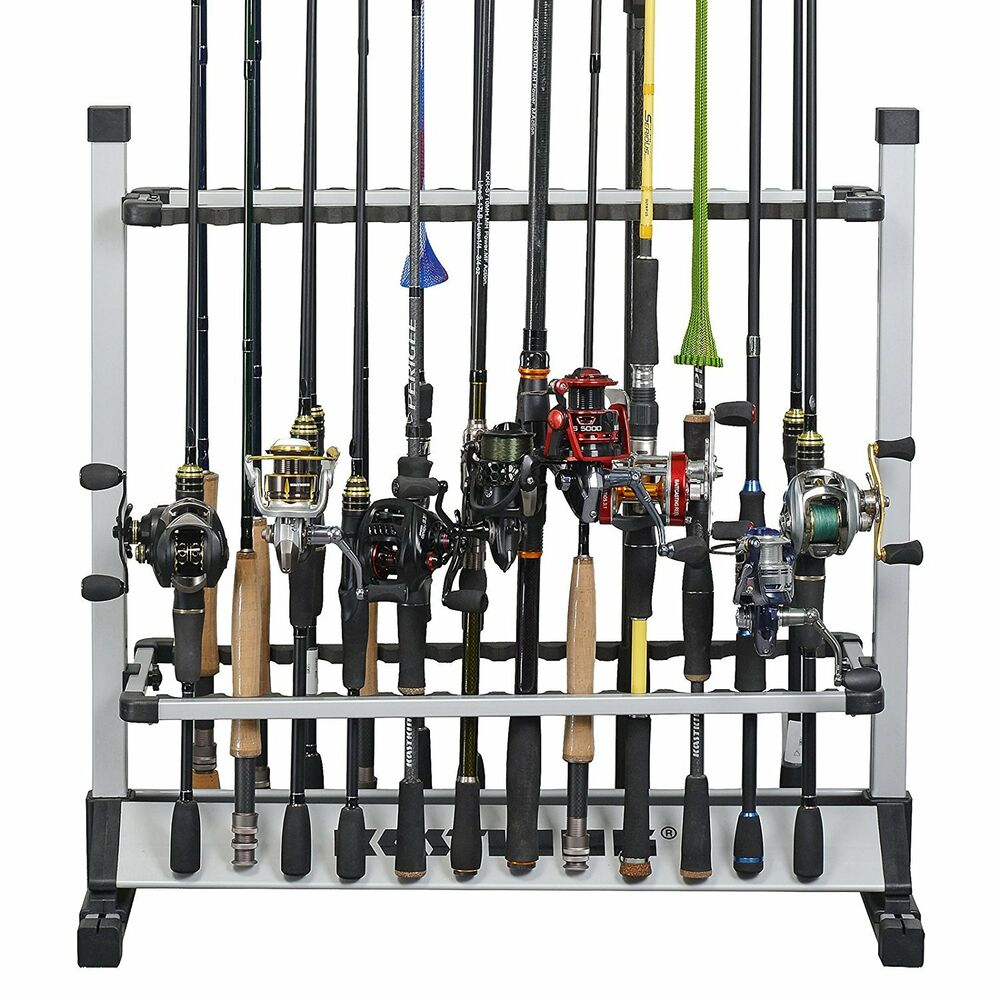 Kastking 24 rod portable fishing rod rack aluminum - Porta canne da pesca a muro ...