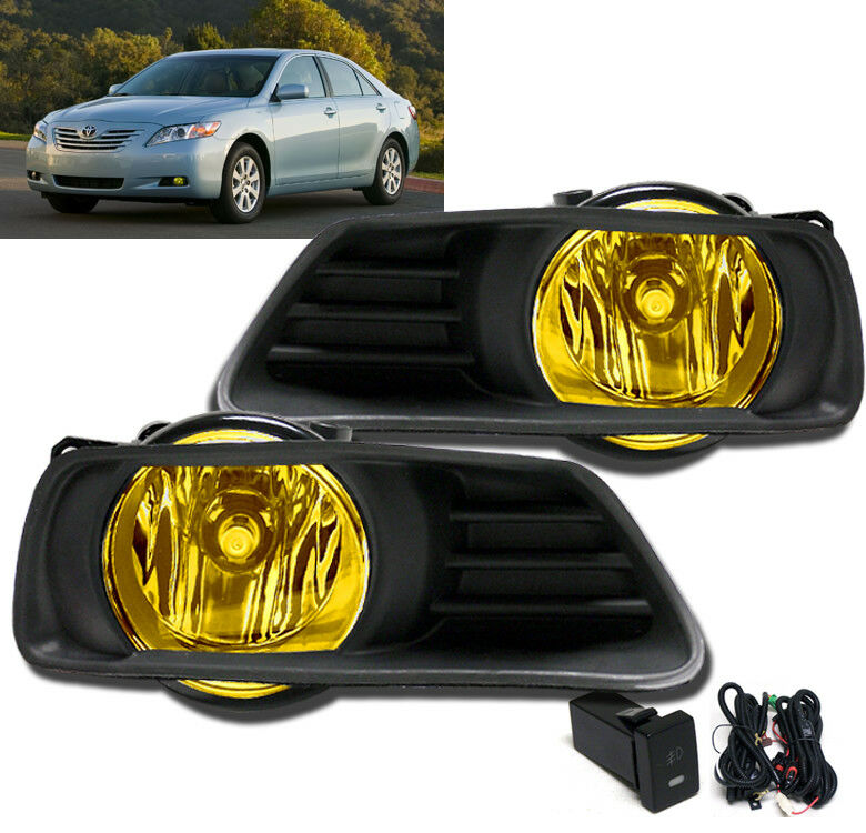 2007 2009 toyota camry front bumper yellow driving fog. Black Bedroom Furniture Sets. Home Design Ideas
