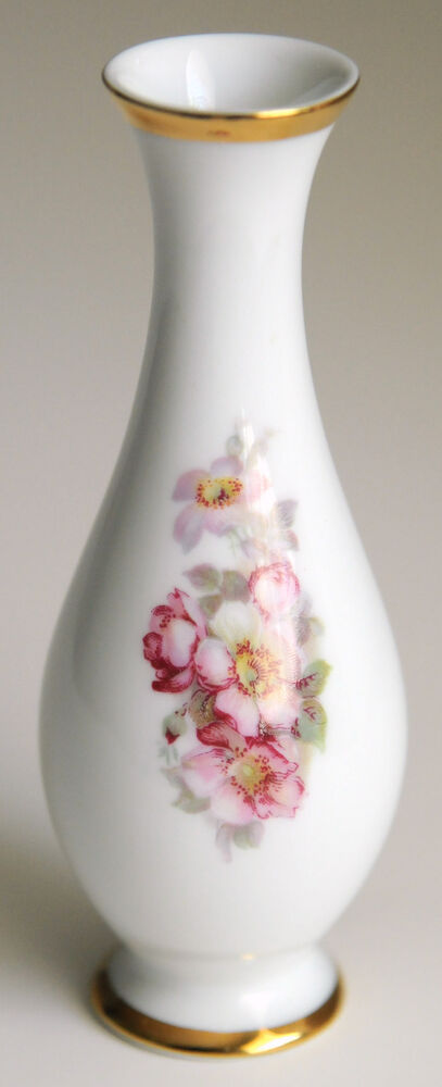 gerold porzellan tettau bavaria bud vase west germany flowers floral porcelain ebay. Black Bedroom Furniture Sets. Home Design Ideas