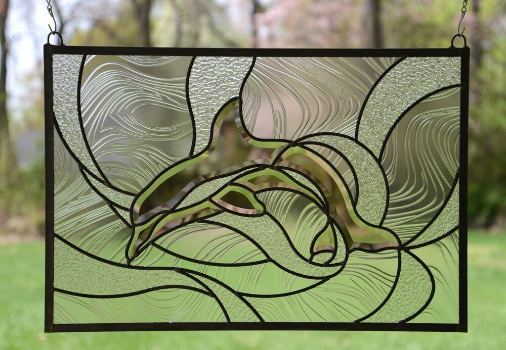X 16 5 tiffany style stained glass clear beveled for 16 x 24 window