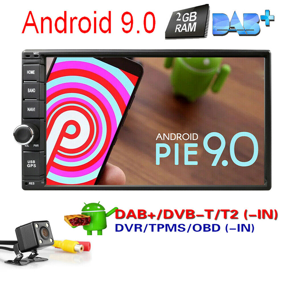 hizpo android 7 1 double din car stereo radio gps wifi 4g. Black Bedroom Furniture Sets. Home Design Ideas