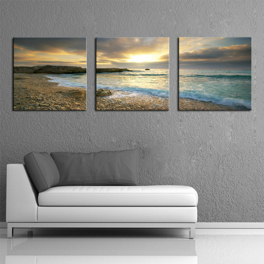 not framed home decor canvas hd print seascape beach wall. Black Bedroom Furniture Sets. Home Design Ideas