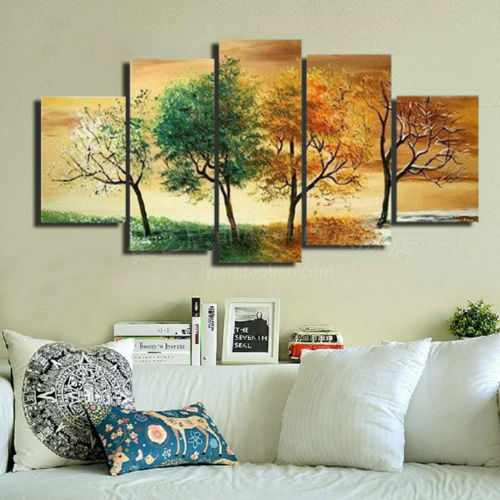 Not framed oil painting on canvas art wall decor 4 seasons for Picture wall decor