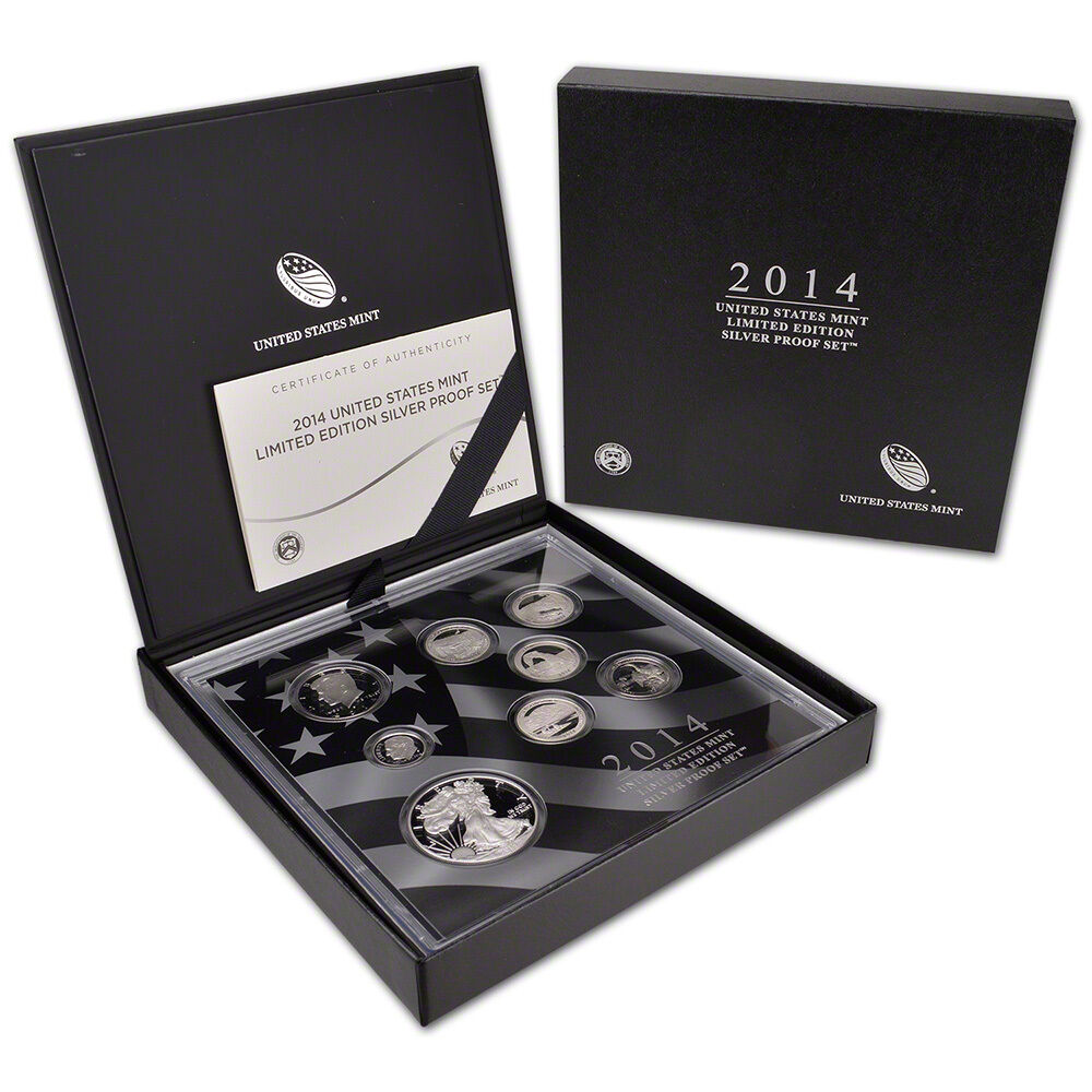 2014 Us Mint Limited Edition Silver Proof Set Ebay