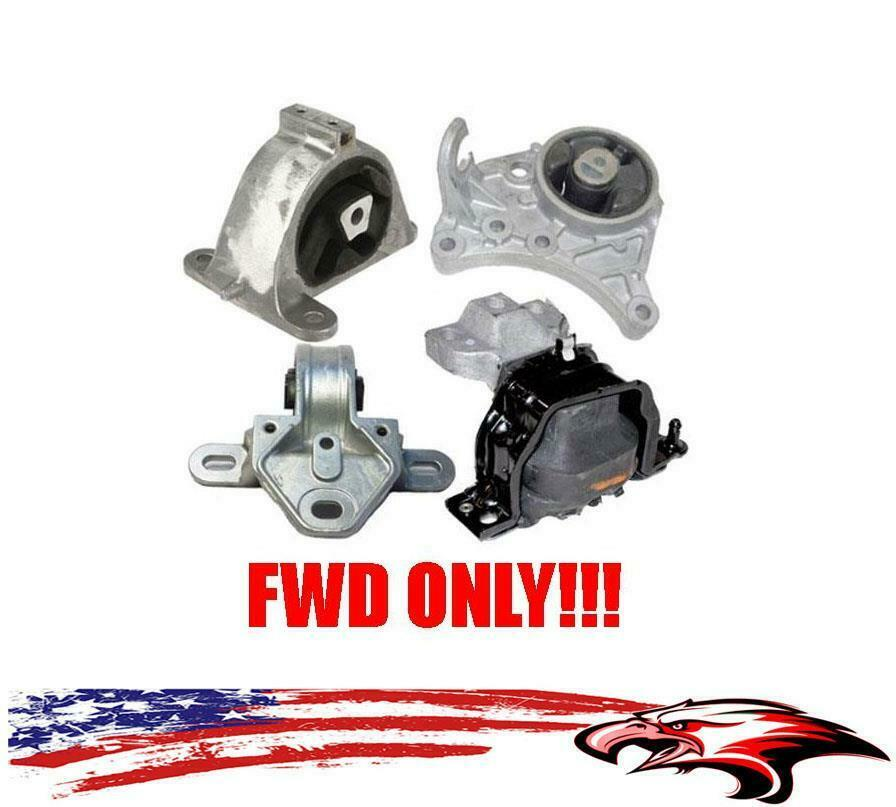 Engine transmission mounts 4pc kit for caravan grand for Town country motors