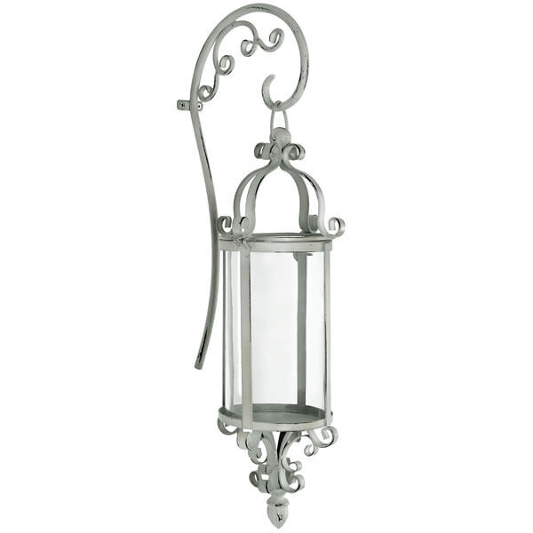 Metal Wall Candle Holder Sconce Shabby Vintage Chic Cream/Off White eBay