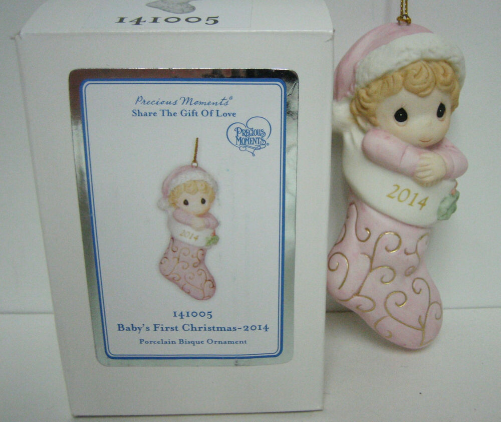 Precious Moments Baby's First Christmas Ornament (Girl ...