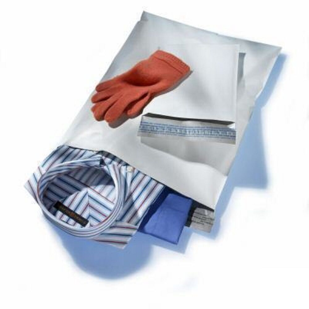 1000 12X15.5 M5 WHITE POLY MAILERS SHIPPING ENVELOPES PLASTIC BAGS 1000#M5