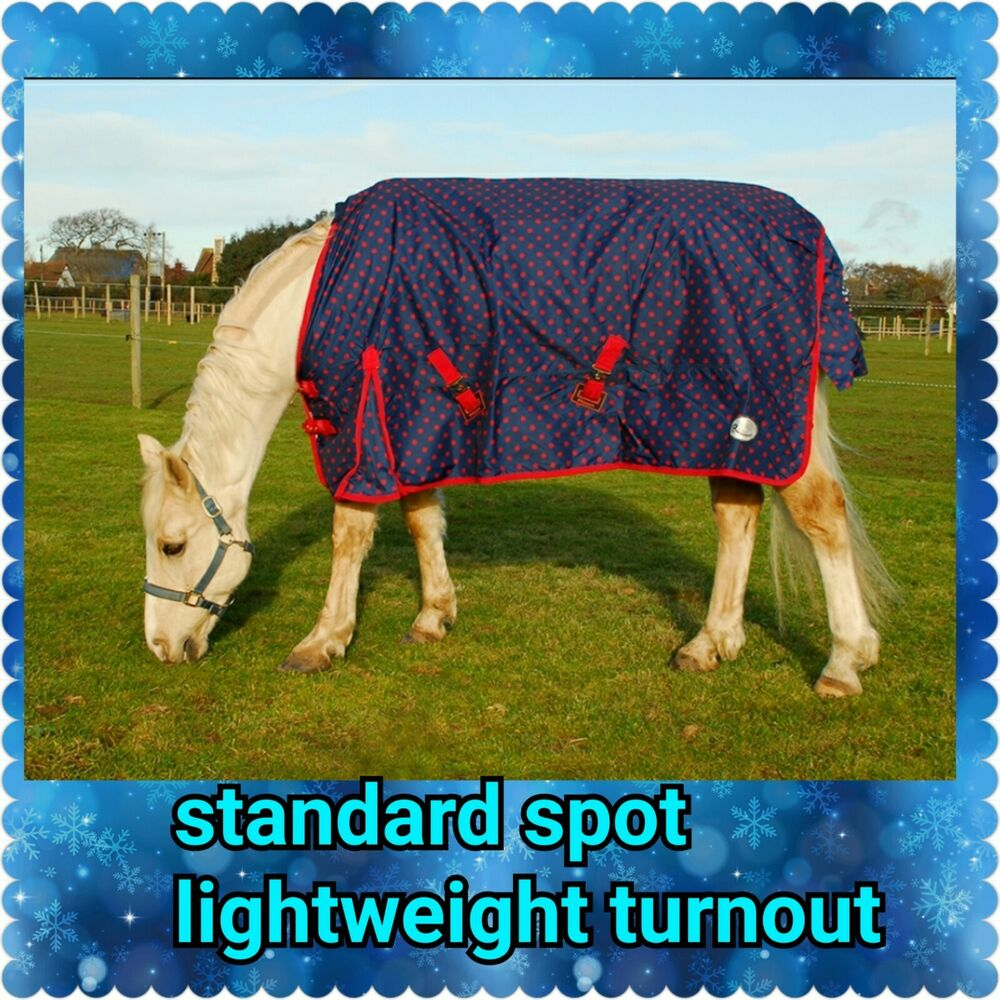 Horse Lightweight Turnout Rug By Combo All Sizes With Neck Ebay