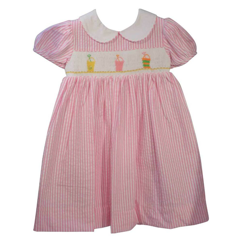 NWT Carriage Boutique Baby Girls Pink Hand Smocked Dress