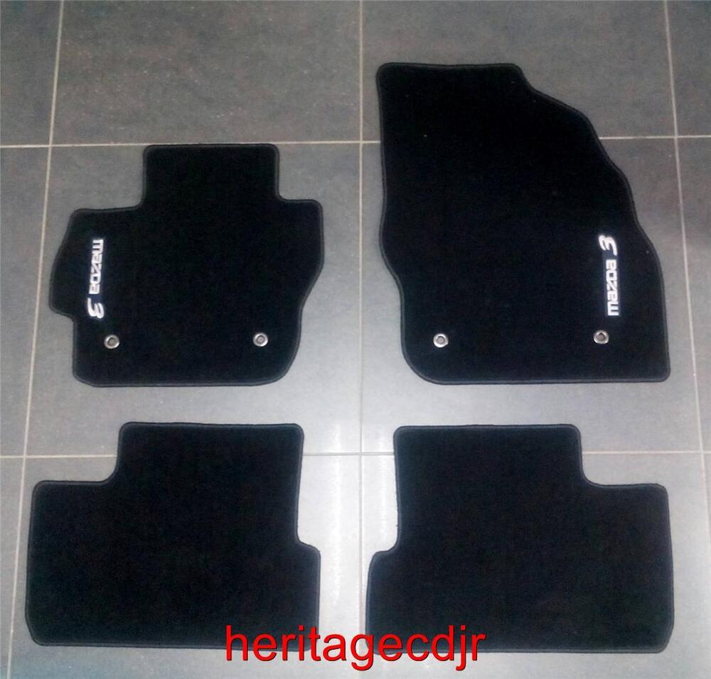 2004 2013 mazda 3 oem carpeted floor mats new 0000. Black Bedroom Furniture Sets. Home Design Ideas