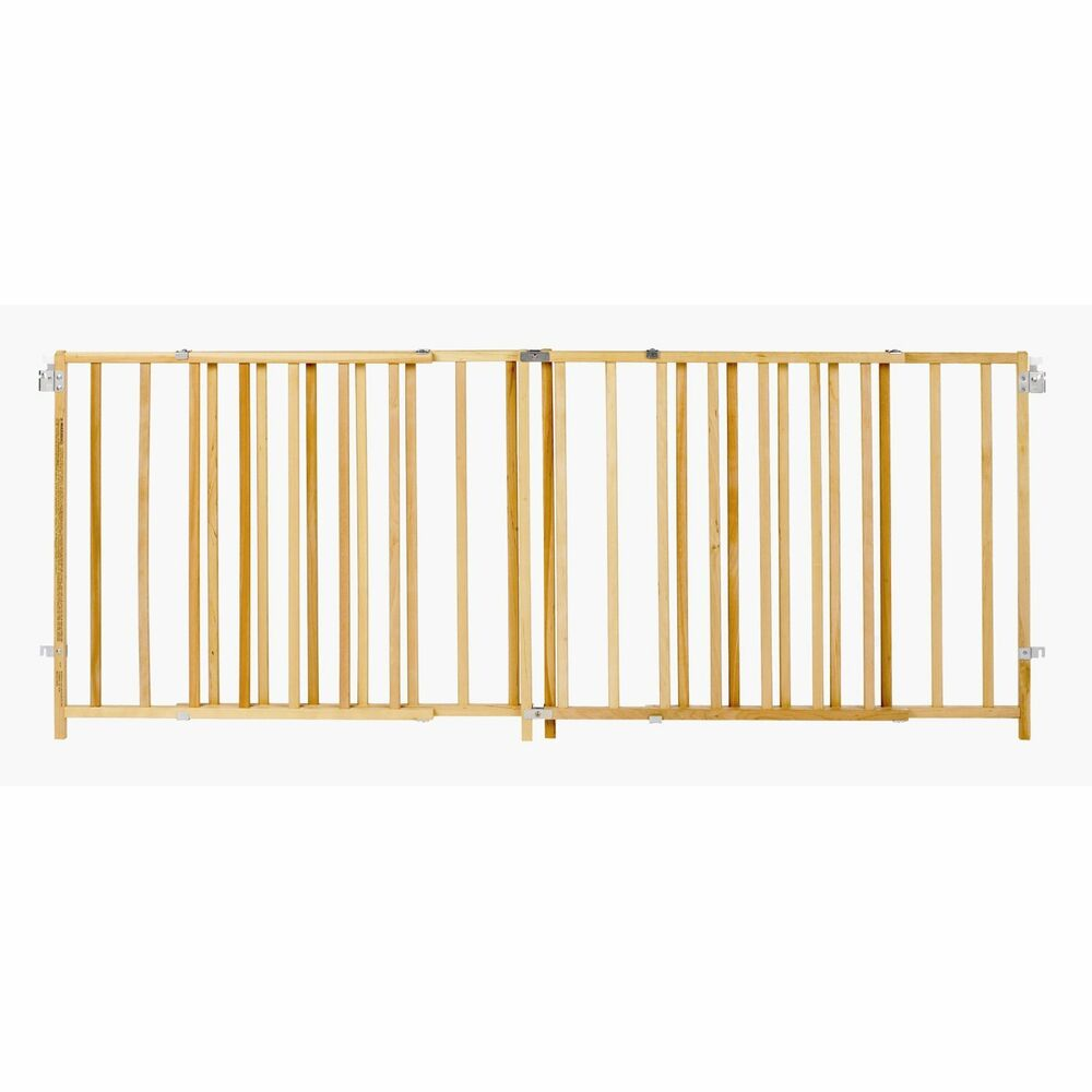 North States Supergate X Wide Wood Gate Wooden Adjustable
